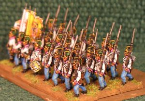15mm, Napoleonic Austrian Fusiliers (Hungarian) Pink Facings Pre 1806 AB 24 Figures